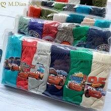Briefs Soft-Pants Children Underwear Car-Pattern Kids Boxer Baby-Boys-Girls Cotton Cartoon