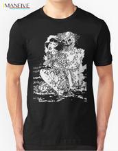 2019 New Fashion Brand Clothing Suehiro Maruo Worm Ghost Uzumaki Junji Ito Japanese Horror Manga Mens T-shirt
