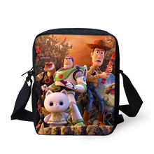 ELVISWORDS Women Messenger Bags Toy Story 4 Pattern Shoulder Cartoon Design Prints Girls Flaps Handbags Kids Mini Mochila