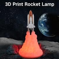 3D Druck Space Shuttle Lampe USB Aufladbare LED Nachtlicht Geschenk Für Raum Liebhaber Dekorative Tisch Lampe für Haus Wohnzimmer zimmer-in LED-Nachtlichter aus Licht & Beleuchtung bei