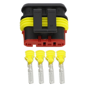 Image 5 - 50 Sets 4 Pin AMP 1.5 Connector, DJ7041 1.5 11/21 Waterproof Electrical Wire Connector,Xenon lamp connector Automobile Connector