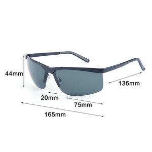 Image 4 - Мужские большие солнцезащитные очки Vazrobe, поляризационные очки без оправы с широкой оправой, 165 мм, для вождения, спорта