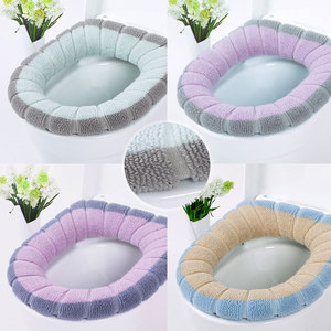Image 5 - Universal Warm Soft Washable Toilet Seat Cover Mat Set for Home Decor Closestool Mat Seat Case Toilet Lid Cover Accessories