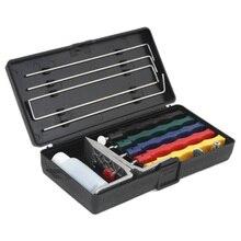 Knife Sharpener Deluxe 5 Whetstones Set Sharpening System Grindstone Stones Extra Coarse Kit Kitchen Tool