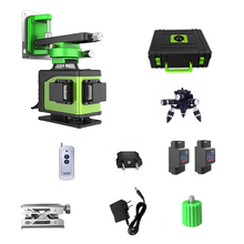 16 line 4D laser level 360 Vertical And Horizontal Laser Level Self leveling Cross Line 4D Green Laser Level with outdoor