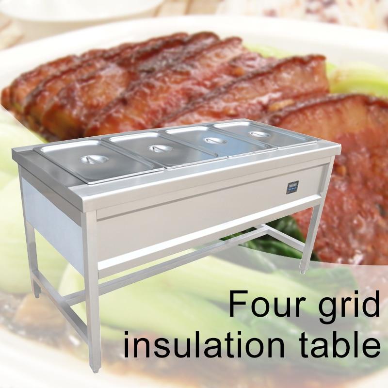 2*2 кВт четыре решетки изоляции стол из нержавеющей стали кухонное оборудование интеллектуальная изоляция Коммерческая электрическая