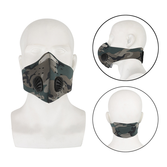 LEEPEE Cycling Mask With Filter Activated Carbon Anti-Pollution Masks Breathing Valve Protective Cycling Mask 2
