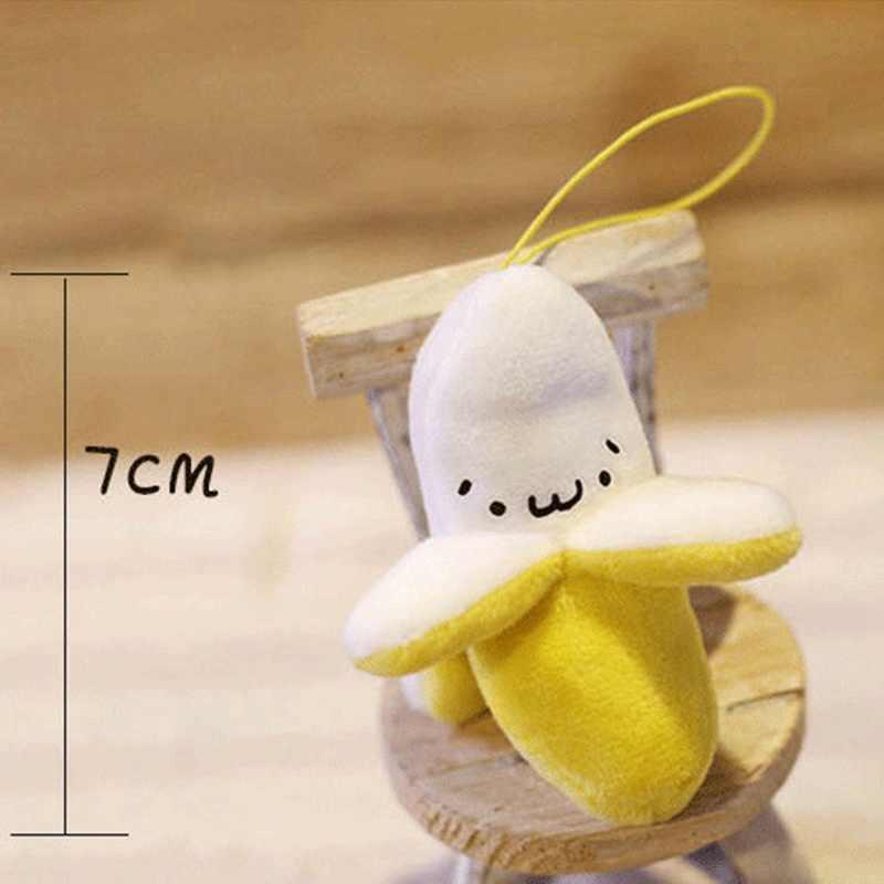 Super lindo llavero pequeño estilo de Navidad muñeco de peluche pequeño plátano amarillo hámster Santa Claus suave 10 peluche juguete