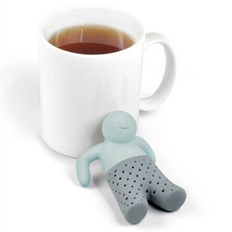 Silicone Tea Strainer Interesting Life Partner Cute Mister Teapot MR Little Man People Tea Infuser Filter Brewing Making Teapot