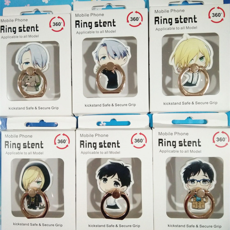 New Acrylic Cartoon YURI!!! On ICE Sword Stay Cute Mobile Phone Ring Bracket For IPhone 2020 Without Box