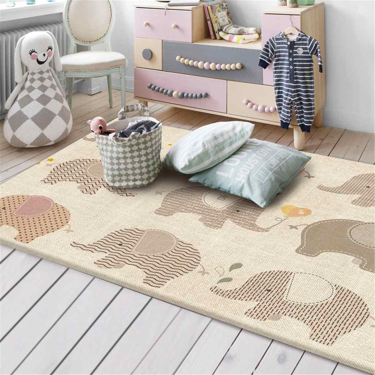 Tapis de jeu pour bébé 200*180cm tapis de Puzzle doux pour enfant en bas âge tapis de jeu rampant couverture Double face Tapete Infantil