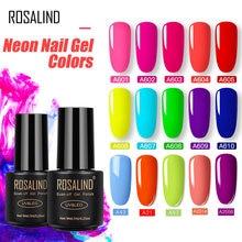Rosalind esmalte de unha em gel neon, verniz híbrido semipermanente neon para manicure gel unhas