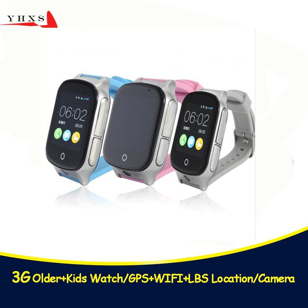 スマート安全 3 グラム WCDMA リモートカメラ GPS ポンド WIFI 場所トラッカー Sos モニター子長老子供の携帯電話の腕時計タッチスクリーン|スマートウォッチ| - AliExpress