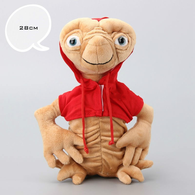 28cm E.T Plush Doll Toy Extra-Terrestrial Puppets With Cloth Plush High Quality Extraterrestrial Stuffed Doll For Christmas Gift