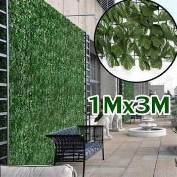 1x3M Plant Wall Artificial Lawn Boxwood Hedge Garden Backyard Home Decor Simulation Grass Turf Rug Outdoor Flower wall