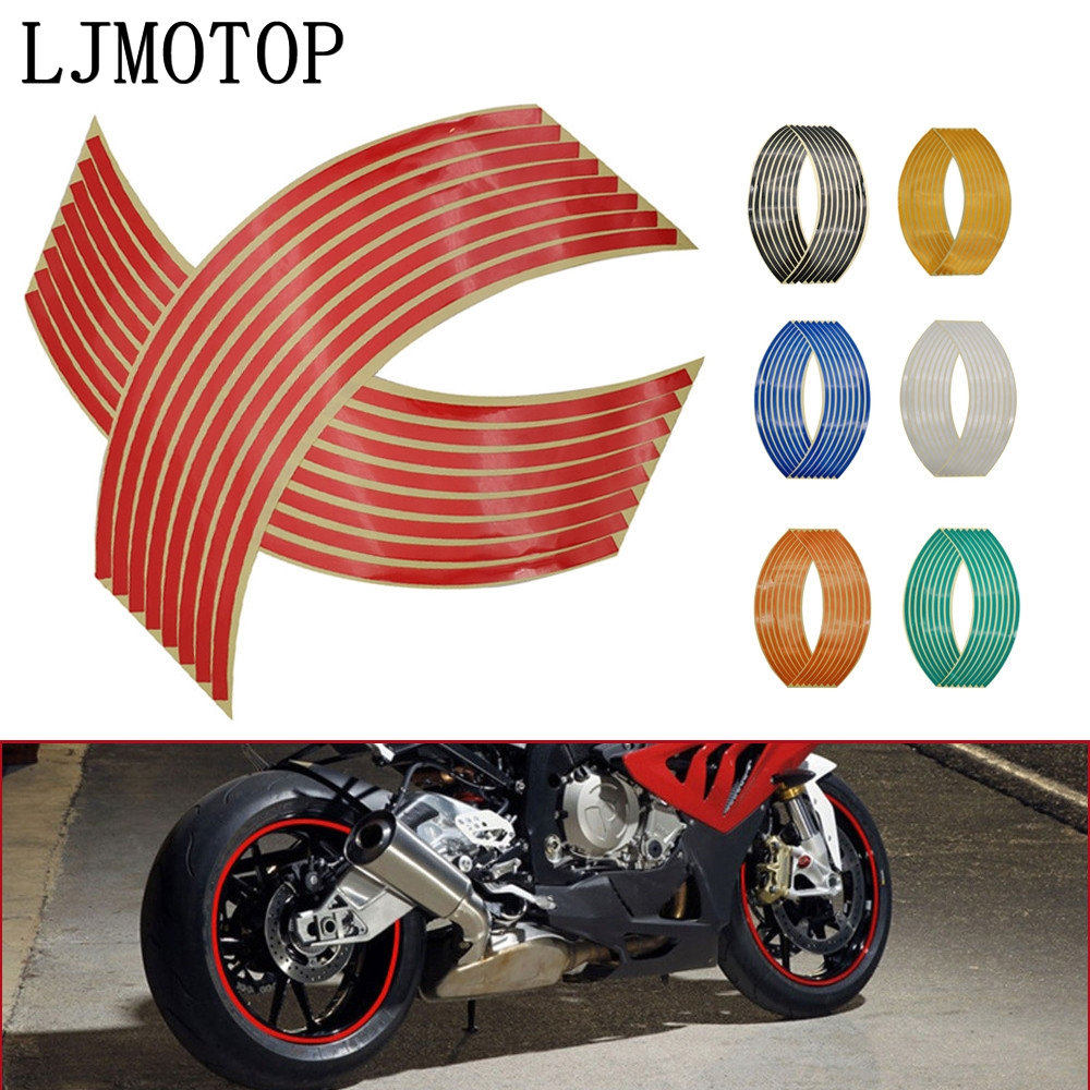 Wheel Sticker Reflective Rim Stripe Tape Bike Motorcycle Stickers For Honda For Kawasaki Z750 Z800 For YAMAHA MT07 MT09 MT10 R1