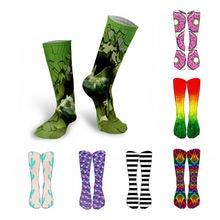 Новинка креативные женские длинные носки с 3d принтом спортивные