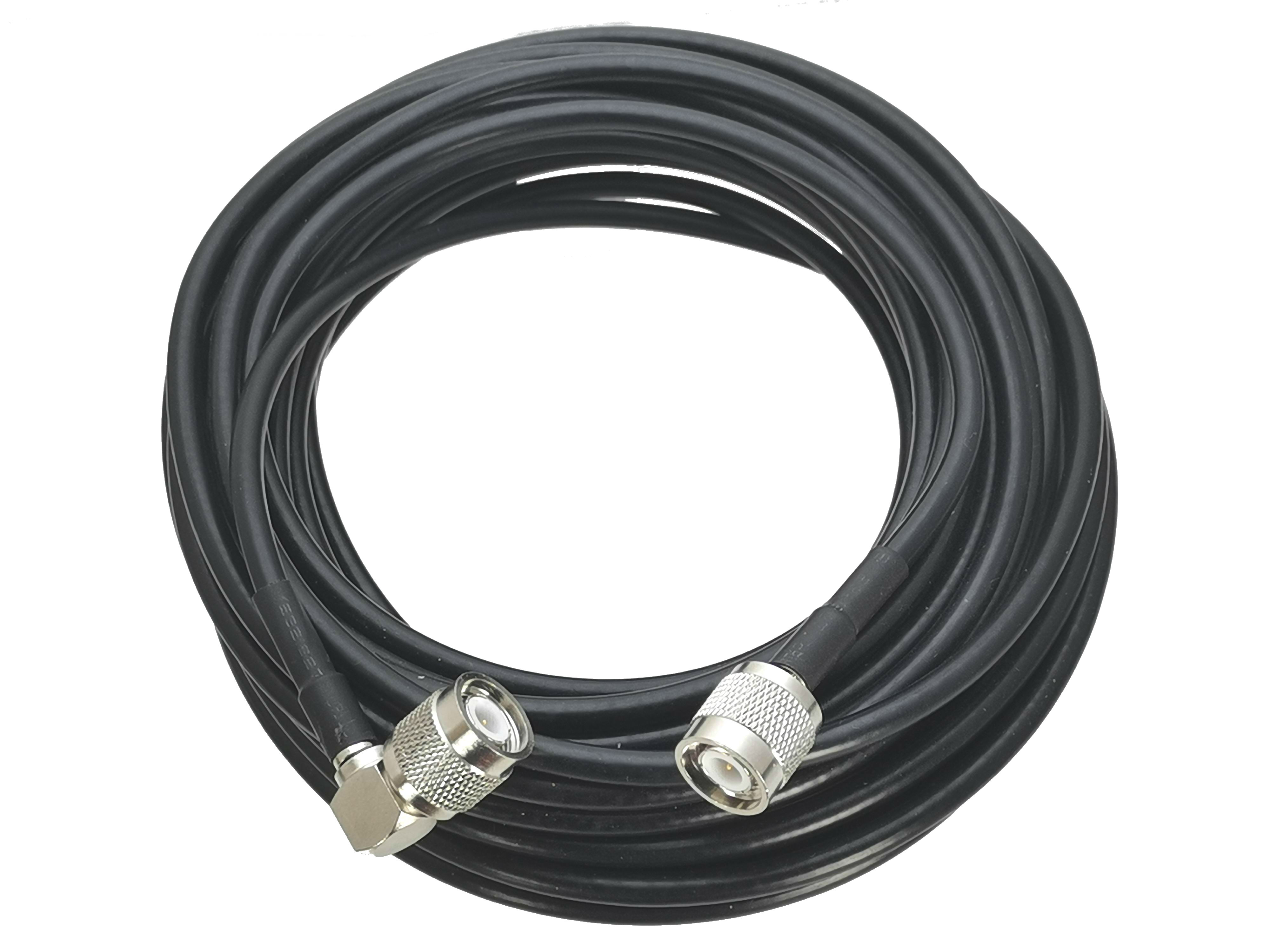RG58 TNC Male Plug To TNC Male Plug Right Angle Connector RF Jumper Pigtail Cable 6inch~20M