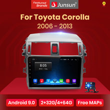 Junsun V1 Android 9.0 2G+32G DSP Car Radio Multimedia Player GPS Navigation For Toyota Corolla E140/150 2007-2013 2din no DVD(China)