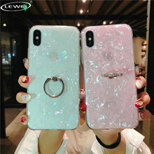 Glitter Phone Case For iPhone 11 Pro 6s 8 7 Plus X XS MAX Dream Shell Pattern Cases XR Xs Max Cover With Ring Holder