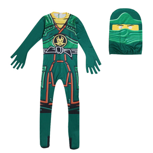 Image 2 - Green Ninjago Costume Kids Boys Jumpsuits Children Halloween Christmas Costume for Kids Fancy Party Clothes Ninja Costume Suits