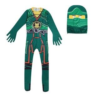 Image 2 - Groen Ninjago Kostuum Kids Jongens Jumpsuits Kinderen Halloween Kerst Kostuum Voor Kinderen Fancy Party Kleding Ninja Kostuum Suits