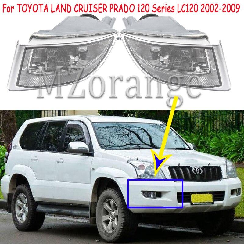 Туман светильник s для Toyota Land Cruiser Prado 120 2002-2009 светодиодный Противотуманные фары головной светильник светодиодный DRL Противотуманные светил...