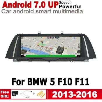 Android 7.0 up IPS car player for BMW 5 F10 F11 2013~2016 NBT original Style Autoradio gps navigation Bluetooth screen  2GB+16GB