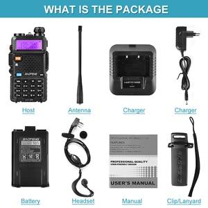 Image 5 - Baofeng Walkie Talkie UV 5R de doble banda, dispositivo de audio con pantalla Dual de 136 174/400 520mHZ, 5W, Radio bidireccional con auricular gratis BaoFeng UV 5R