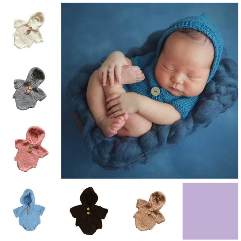 Newborn Photography Prop Manual Sweater Girls Suit Cotton Lovely Newborn Wool Weave Needle Bar Hats For Baby Clothes 0-6M