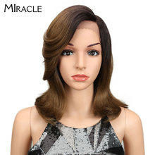 Miracle Straight Synthetic Hair Lace Front 13*4 L Part Bob Wigs