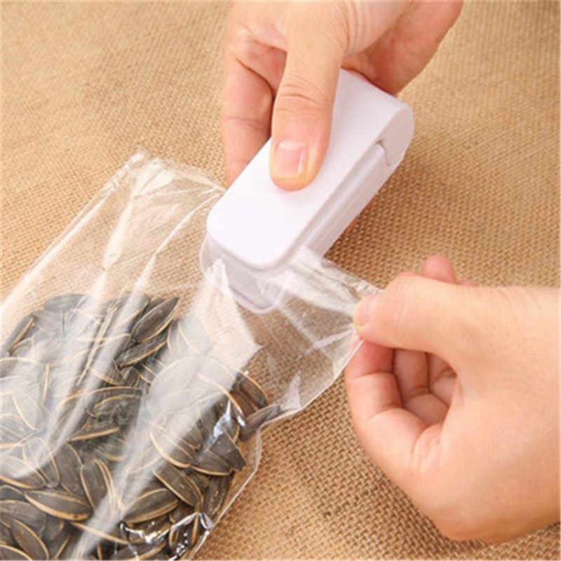 1 Potongan Rumah Tangga Portable Mini Heat Sealing Machine Impulse Sealer Seal Packing Plastik Paket Sealer Drop Pengiriman