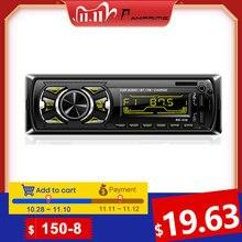 AMPrime Autoradio 1din รถวิทยุบลูทูธ 1 DIN รถสเตอริโอโทรศัพท์ AUX MP3 FM/USB/รีโมทคอนโทรลสำหรับรถเสียง