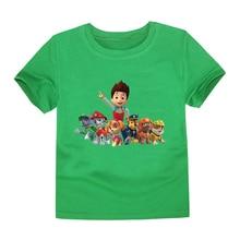 Paw Patrol T-shirt Pure Cotton Boy New Kid Children Clothes Baby Summer Kids Boy Girl Top Tee Short Sleeve Children Clothes
