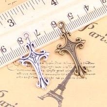 16pcs Charms ornate cross 32x18mm Antique Pendants,Vintage Tibetan Silver Jewelry,DIY for bracelet necklace