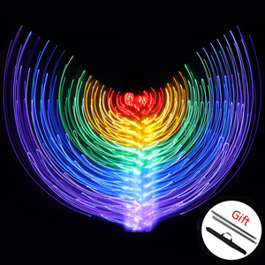 Image 5 - 2019 Women Belly Dance Isis Wings Led Isis Wings Belly Dance Accessory Wings Costume Butterfly Wings Adult Egyptian With Sticks