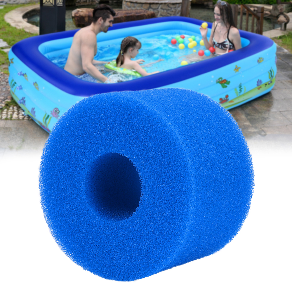 10.8x4x7.3cm Reusable Washable Swimming Pool Filter Foam Sponge Cartridge Foam Suitable Bubble Jetted Pure SPA For Intex S1 Type(China)
