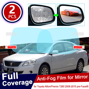 for Toyota Allion Premio T260 260 2008~2015 pre-Facelif Car Rearview Mirror Protective Film Waterproof Anti Fog Car Sticker 2012