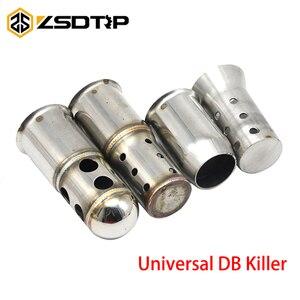 ZSDTRP Universal 51mm 60mm Exhaust DB Killer Catalyst Silencer For AK Yoshimura Motorcycle Muffler Off Road ATV(China)