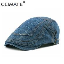 Flat Cap Jeans Berets Denim Hats Cotton Adult CLIMATE Adjustable Men