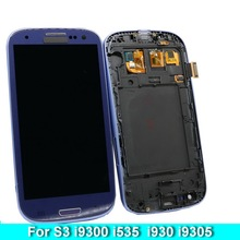 цена на For Samsung Galaxy S3 i9300 i9301 i9301i i9305  Phone LCD Display Touch Screen Digitizer Assembly with Brightness Control