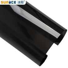 Sunice, темно-черная пленка на окна автомобиля, контроль тепла, защита конфиденциальности, противоскользящий керамический Солнечный оттенок, самоклеящаяся Автомобильная Наклейка на стекло для дома