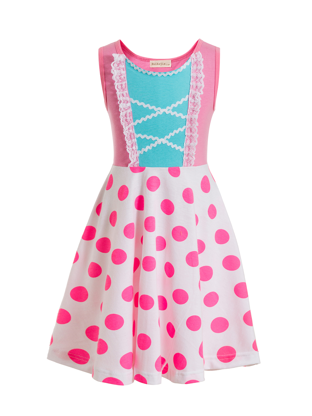Toy-Story Party-Dresses Birthday Peep-Costume Polka-Dot Princess Kids Children for Bo