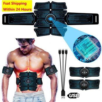 EMS Abdominal Trainer Body Slimming Belt ABS Muscle Stimulator Toner Home Gym Fitness Exercise Electrostimulation Stickers abdominal muscle stimulator ems belt smart fitness massage abs trainer electric body slimming massager home gym