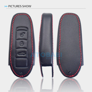 Image 5 - Leather Car Key Case For Porsche Cayenne 911 996 Panamera Macan Boxster 986 987 981 3 Buttons Smart Remote Fob Protector Cover