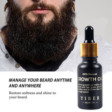 Men Beard Growth  Oil Kit Soften Hair Growth Nourishing Enhancer Beard Wax Balm Moustache Oil Leave-In Conditioner Beard Care