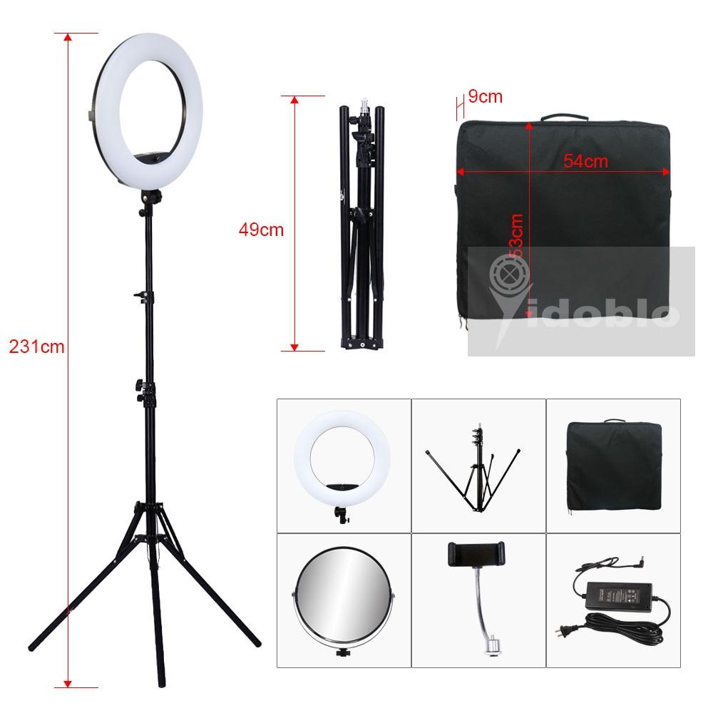 Hfbc24245b09548f7aaafea57c38a40a0A Yidoblo 96W Ring Light FD-480 Pro Beauty Studio LED Ring lamp Kit 480 LEDS Video Light Lamp Makeup Lighting + stand (2M)+ bag