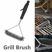 BBQ Grill Brush Kitchen Accessories BBQ Grill Barbecue Kit Cleaning Brush Stainless Steel Cooking Tools Barbecue Gadgets commercial electric grill barbecue kitchen bbq grill counter electrical stainless steel griddle churrasqueira eletrica eg 818b