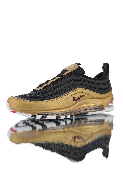 US $76.0 62% OFF|Oryginalne męskie buty do biegania Nike Air Max 97 QS odkryte trampki czarne złoto lekkoatletyka projektant obuwia dobrej jakości