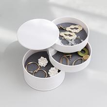 2021 nowy czterowarstwowy ABS biżuteria wyświetla Cylinder obrotowy organizator na biżuterię przenośne pierścienie kolczyki pudełko wystawowe 10x10cm tanie tanio Doreen Box CN (pochodzenie) Cylinder Rotatable Jewelry Organizer Box M228405 Opakowanie i wyświetlacz biżuterii 10cminch